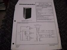 Marantz CS-65/DS-603 Lautsprecher. Service Manual original Papier