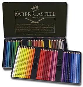 Faber-Castell Polychromos Pencils Tin Set of 60 - Assorted Colors