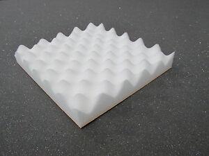 ACOUSTIC FOAM SHEET IN WHITE - egg box (1 x sheet - 2340MM x 2000MM x 40mm)