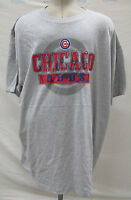 Chicago Cubs Men's Big & Tall Graphic T-Shirt MLB Majestic Gray