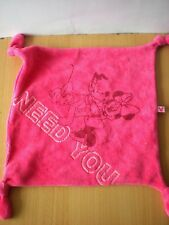Doudou carre plat rose disney minnie pluto need you