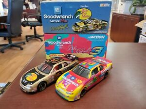 Lot of 2 Dale Earnhardt #3 GMG/ Peter Max, Bass Pro 1:32 Diecast Cars Action MIB