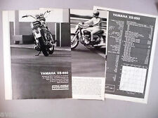 Yamaha XS-650 Motorcycle Review MAGAZINE ARTICLE - 1970