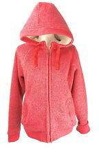 WEIRD FISH Alfa Zipped Lined Soft Knit Hooded Fleece or Sherpa Foxberry- Size 12