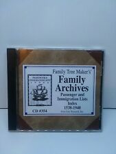 Family archives Passenger and Immigration Lists Index 1538-1940 #354