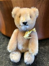 "Vintage Schuco 5"" Mohair Miniature Tricky Yes / No Teddy Bear"