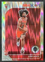 COBY WHITE 2019-20 NBA Hoops Silver Flash  Prizm RC Rookie #204 BULLS lot-1