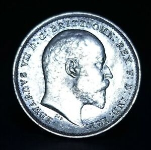EDWARD VII SILVER THREEPENCE, 1902, EXCELLENT EXAMPLE, SEE PHOTOS