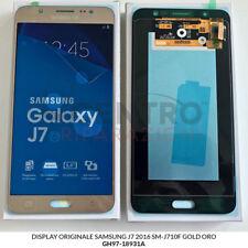 DISPLAY LCD TOUCH SCREEN ORIGINALE SAMSUNG GALAXY J7 2016 SM-J710F GOLD ORO