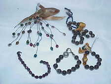 lot of antique vintage mercury glass Feather Tree ornament bits pieces