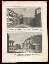 Italie . Italy. Italia . gravure ancienne . vecchio aquaforte . Rome .Roma