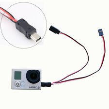 Mini USB TO AV FPV Video Output Cable 5V DC Power Input BEC for Gopro Hero 3 4