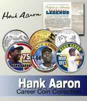 HANK AARON HALL OF FAME MVP HR KING Career Set Statehood Quarter 3-Coin Set
