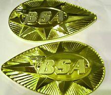 BSA A50 A65 B44 B25 Tanque De Combustible Gasolina Insignias 1968-70 82-9695/97 en forma de pera
