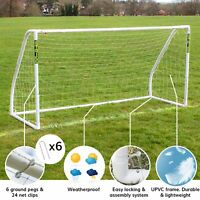 Kids Football Goal 8ft x 4ft 8ft x 6ft Children Sports Net Outdoor Play - Strike