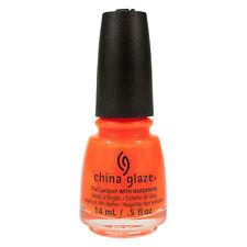 China Glaze Lacquer Nail Polish Orange Knockout 70641 0.5oz Bottle