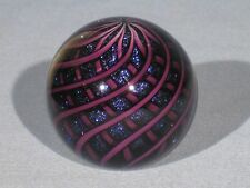 Paperweights: Contemporary Art Glass Alloway 2.35inch Dichroic MINI PW #694