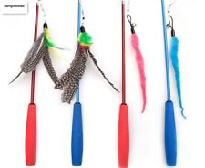 Funny Telescopic Fishing Rod Feather Caterpillar Tease Cat Toy Funny Cat Toy