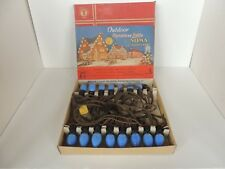 Vintage Noma 15 Light Set c9 flame swirl BuLb Christmas w/ Store Display Box