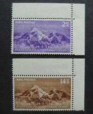 India 1953 Conquest of Everest MNH mint Sg344/345