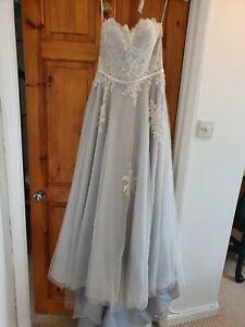 Lou Lou Ice Blue Wedding Dress - Size 12