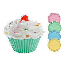 """Wilton 12 Pack STANDARD Silicone Pastel Cup Cakes Muffins Baking Party Cases 2 """""""