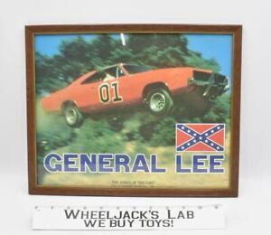 Dukes Of Hazzard Framed 13.5 x 11 in. General Lee Poster Warner Bros. 1981