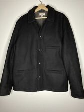 J.Crew Wallace & Barnes Skiff Black Wool Jacket With Thinsulate Size XLT - Tall