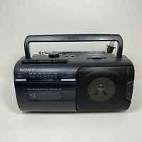 SONY CFM-10 Portable Mini Boombox AM/FM Cassette Tape Player Recorder Tested