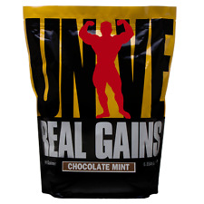 Universal Nutrition Real Gains Weight Gainer, Meal Replacement - 6.85# Choc Mint