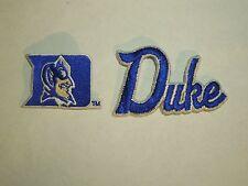 "Duke University Blue Devil's Lot of 2 Patches- 1 D Mascot & 1 ""Duke"" --#7"
