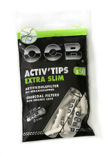 50 OCB slim 6mm activated Charcoal filters ACTIV'TIPS SLIM with ceramic caps