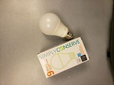 5x Simply Conserve Led Dimmable Light Watt A19 Bulbs Bulb White 9 Equivalent 60w