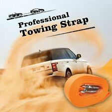 """3"""" x 20' Heavy Duty Recovery Winch Tow Strap Hooks Webbing Rope Chain Towing"""