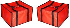 """NEW LOT 2 Pizza Delivery Bags Insulated 20"""" x 19"""" Heavy Duty Carry Hot Cold Food"""