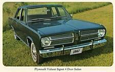 Print. 1967 Plymouth Valiant Signet 4D Sedan auto ad