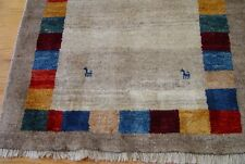 """Tribal Gabbehh Hand Knotted Wool Oriental Rug 3'5"""" x 4'8"""""""