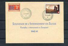 Schweiz Karte Internement en Suisse 1940 Soldatenmarke - b2987
