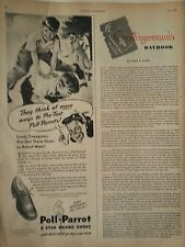 1946 Poll Parrot Shoes Boys Youngsters Original Print Ad