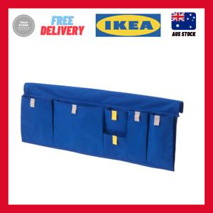 IKEA MOJLIGHET Bed pocket, blue 75x27 cm kids bed toys compartments