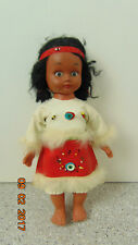 """Vintage 1960s Plastic Vinyl Indian Girl Character Doll 10 """" Tall"""