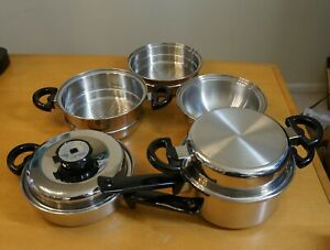 Cordon Bleu 7-Ply Sauce / Saute Pan Set with Double Boilers and Steamer