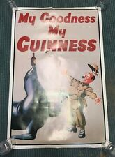 """Guiness My Goodness My Guiness Seal Waiter Wall Poster 36""""x24"""" Argentina Rolled"""
