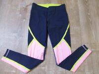 J Crew New Balance 0683 Women Navy Pink Yellow Colorblock Legging Small? EUC