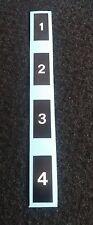 HONDA CB750/550/500/400/350 FOUR COIL NUMBERS DECALS HONDA FOUR
