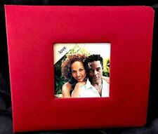 LOVE- Red Cloth Photo Album with Picture Window and Pre-designed Pages