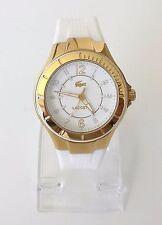 Lacoste Damen Uhr Acapulco gold weiß Silikon 2000756