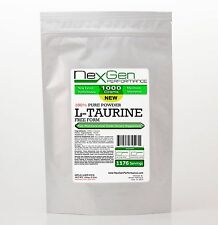 L-TAURINE Powder 1000g (2.2lb) - 100% Pure -Amino Acid for Muscle & Energy
