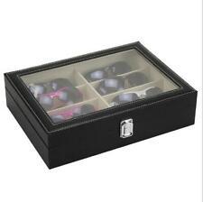 Brillenbox Organizer schwarz Brillenetui Kasten Schachtel Glas-Speicher