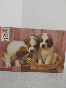 Milton Bradley Junior 100 Series Vintage 1977 St Bernard PuppiesPuzzle 4828-12